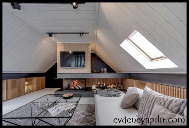 Çatı Katı Oda Dekorasyonları