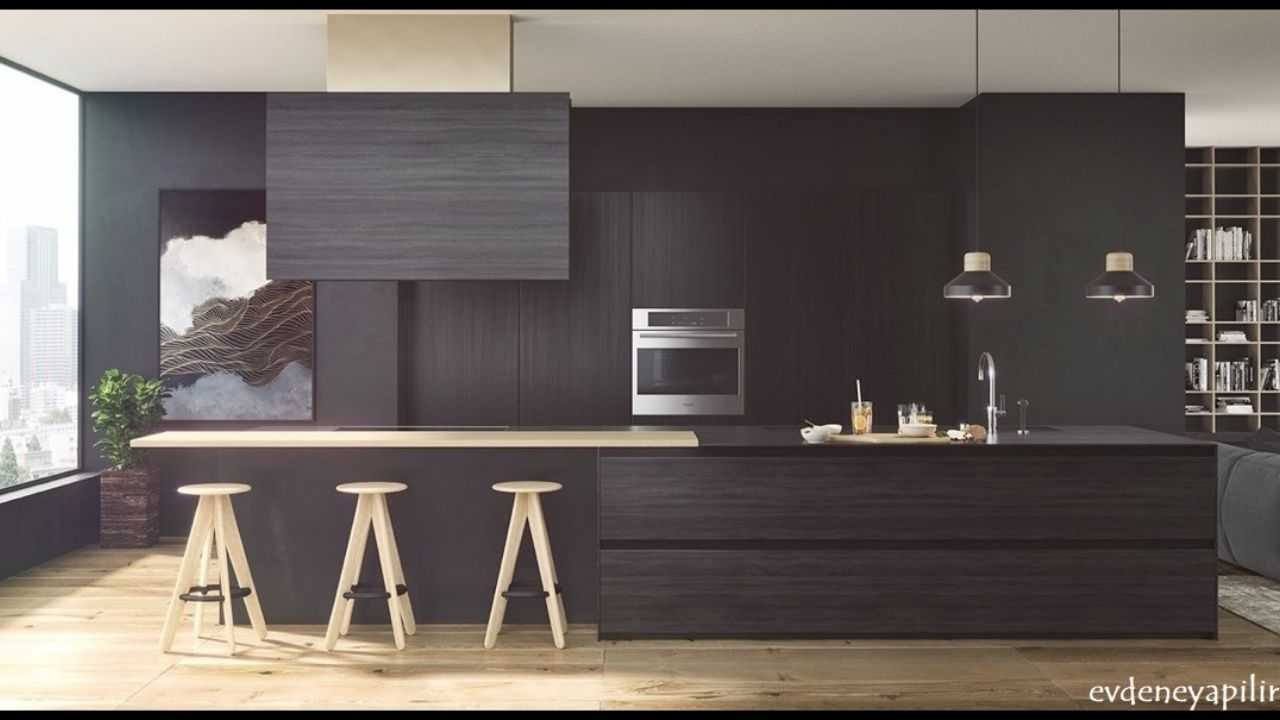 siyah beyaz mutfak